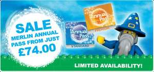 Merlin Annual Pass Sale From £74.00 @Merlin