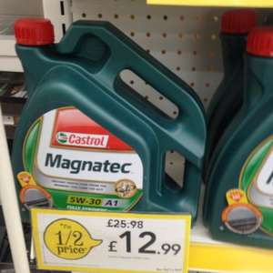 Castrol magnatec 5w-30 A1 fully synthetic engine oil 4litres half price £12.99 at wilkinsons