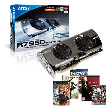 3GB MSI Radeon HD 7950 Twin Frozr + Far Cry 3 + Sleeping Dogs + Bioshock: Infinite  + Crysis 3 - £220.79 Today Only @ Scan