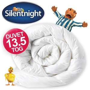 Silentnight 13.5 tog Duvet +  2 Pillows -King Size £19.99 from Ebay - UK-Bedding