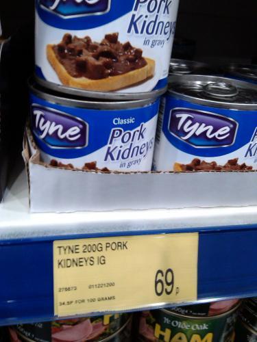 Tyne Pork Kidneys 69p at B&M Retail