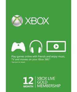 12 month xbox live membership £27.99 at argos instore and online