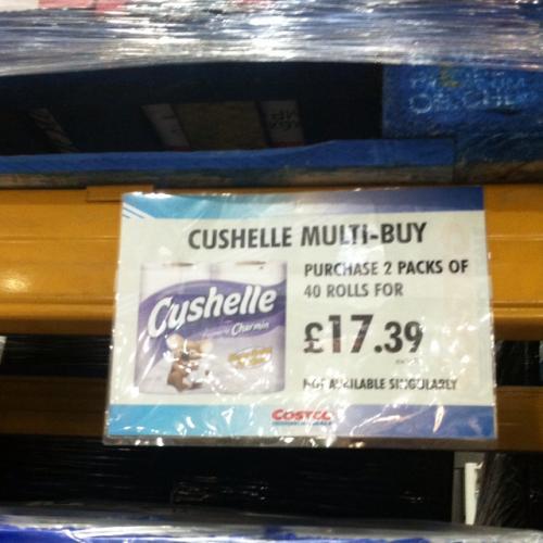 Cushelle 80 rolls - £20.86 @ Costco Leeds