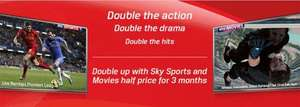 Half price sky sports and movies on virgin media for 3 months existing customers