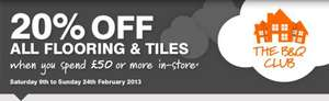 20% OFF ALL FLOORING & TILES AT B&Q when you become a member of The B&Q Club