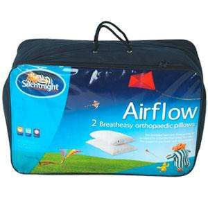Silentnight Airflow Orthopaedic Pillow: Pack of Two £7.99 @ Homebargains