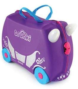 Trunki Ride On Suitcase in Purple Princess Carriage £21.37 + P&P or spend extra £8 for free delivery @ Kiddicare