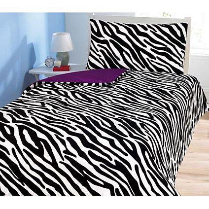 Zebra Print Double Duvet + 2 Pillow Cases at Asda Direct