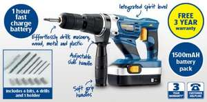 24V Cordless Hammer Drill @ Aldi with 3 years warranty - £44.99