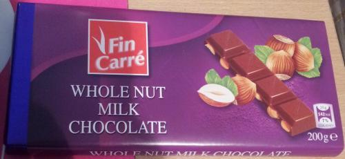 Fin Carre Whole Nut Milk Chocolate 95p @ Lidl