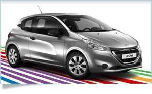 "Peugeot 208 1.0 VTI 3 door for £149 per month, no deposit (""Just Add Fuel"" offer)"