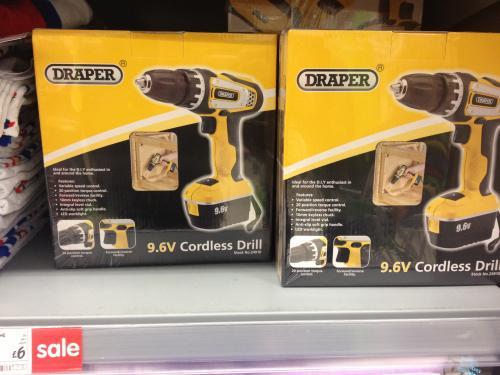 9.6v Draper Cordless Drill - £6 in store @ Asda