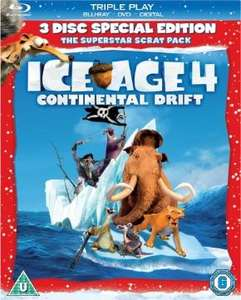 Ice Age 4: Continental Drift (Triple Play Blu-ray) - £10 at Sainsbury's Entertainment / Instore