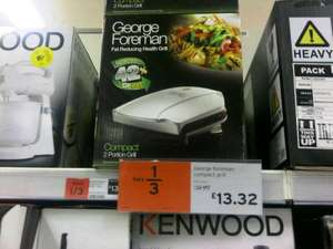 George foreman compact grill 2 portion £13.32 instore Sainsburys