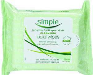 Free simple facial wipes when you register!!!!