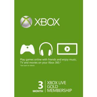 Microsoft Xbox LIVE 3 Month Gold Membership £9.99 @ Argos instore