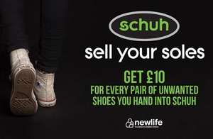 Donate your shoes to Schuh (Brent Cross) and receive a £10 voucher