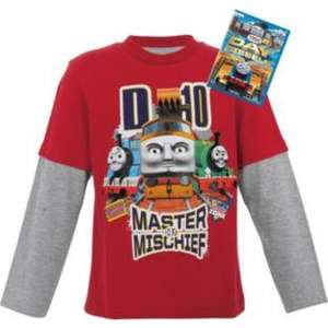 Thomas & Friends - Diesel 10 T-shirt top PLUS  'Day of the Diesels' DVD (plenty available in 3-4yrs £6.99, some smaller too £5.99 @ Argos)
