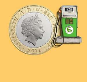 £2 topcashback when you spend £10 on any fuel at Tesco, Morrisons, Sainsbury's, Asda, Co-operative, Esso, Shell.