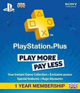 Playstation Plus Subscription 1 Year £29.99 @ GAME