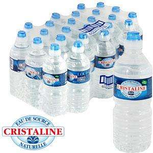 12 (500ml) Bottles of Cristaline Spring Water £1.00 in POUNDLAND