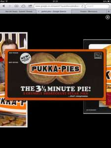 2 pukka pies chicken or steak for £1.25 @ Morrisons