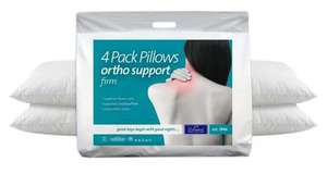 Pack of 4 Orthopaedic Pillows from littlewoods Ebay  £15.99 inc delivery