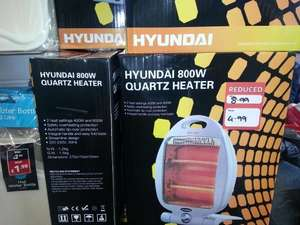 Hyundai 800w Quartz Heater £4.99 @ Pound Stretcher