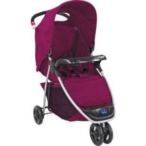 BabyStart Ria 3 Wheeler Pushchair - Berry  was £79.99 now  only £14.99 @ Argos