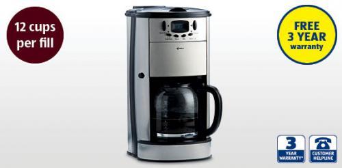 Coffee Maker With Grinder £39.99 @ Aldi