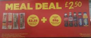 Asda Food to Go Meal Deal - Baguette/Sub Roll & Drink £2.50