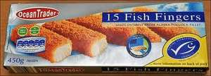 Ocean Trader 450G fish Fingers in Lidl for £1.29