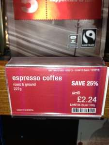 25% Off Marks and Spencer Coffee Beans and Ground Coffee