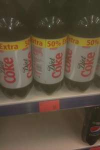 Coke Cola Diet 3 litre bottle only 69p @ B + M in store