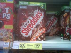 Coco Shreddies 500G box @ 57p instore at Tesco, Salford