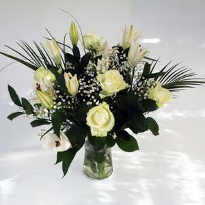 Clotted Cream bouquet  - Look great with free chocs and vase £20.49 @ ValueFlora