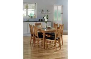 Cucina Extending Dining Table And 4 Chairs - Oak  £262.46 @ Homebase