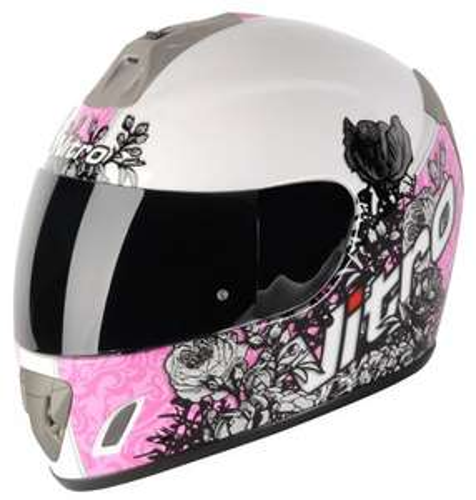 Nitro Romance ACU Gold Motorcycle Helmet Pink or Blue £28.98
