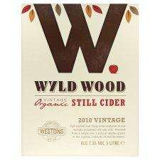 Westons Wyld Wood Organic Cider 3 Litre Box £6.00 was £7.99 @ Tesco instore & online