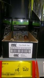 Universal Car Bulb Kit £4.00 @ Asda instore