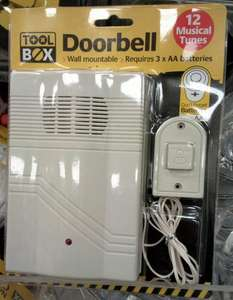 £1 Wired Doorbell (Wall Mountable) @ Poundland