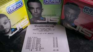 Durex JLS condoms - Instore only - green/yellow/red 3 packs 5p at superdrug