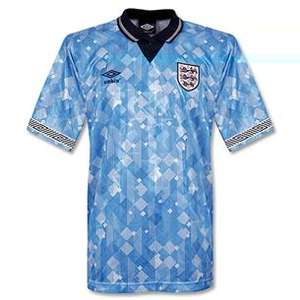 1990 england home, away and third retro shirts £6.75 jjb greatbridge at jjb sports