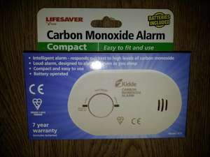 Kidde Lifesaver carbon monoxide alarm £8.00 at Asda instore