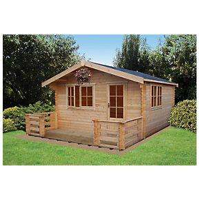 Kinver Log Cabin 3.5 x 4.1m £1,749 @ Screwfix