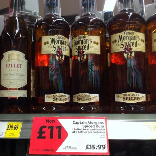 Captain Morgan's Spice Rum @ Morrisons £11