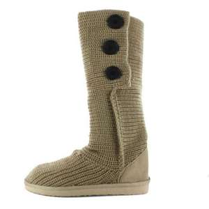 Knitted textile boots 65% off reduced from £9.99 to £3.49 @ Gluv