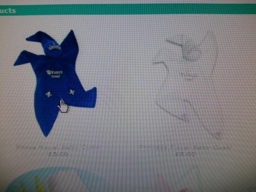 Blue or White baby comforter £9.99 delivered @ Cuski