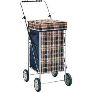 Folding Shopping Trolley - Navy Check argos £13.99 from £34.99