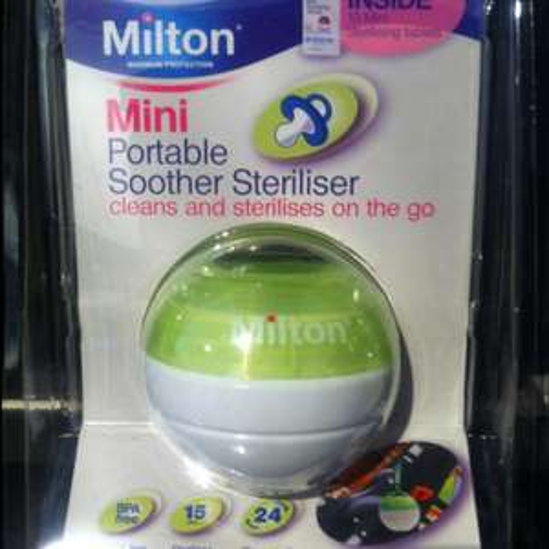 Mini portable soother steriliser £1 @ Asda